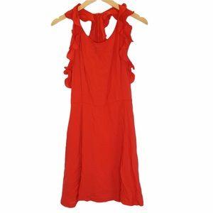 🔵 4/$25 Tea & Cup Red Ruffle Sleeveless Dress